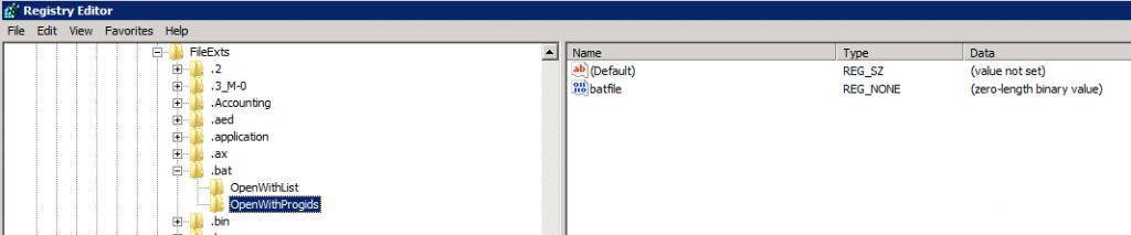 Correct HKCU OpenWithProgids